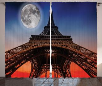 Minimal French Flag Curtain