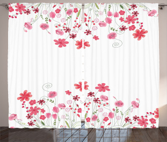 Herbs Blossoms Bridal Curtain