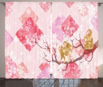 Minimalist Tree Braches Curtain