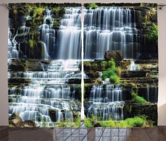 Waterfall Jungle Rural Curtain