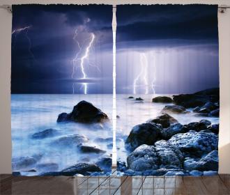 Rocky Coast Mystic Storm Curtain