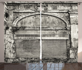 Historic Old Store Front Curtain