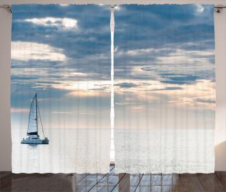 Sailing Yacht Sunset Curtain