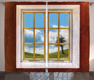 Meadow Grass Countryside Curtain