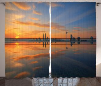 Sunrise Cityscape Curtain