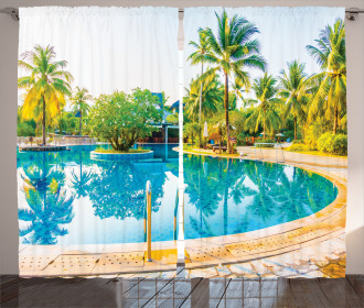Pool Resort Travel Curtain