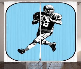 American Football Retro Curtain