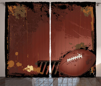 American Football Art Curtain