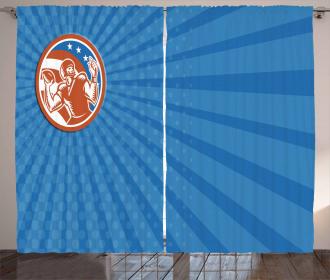 Pop Art American Football Curtain