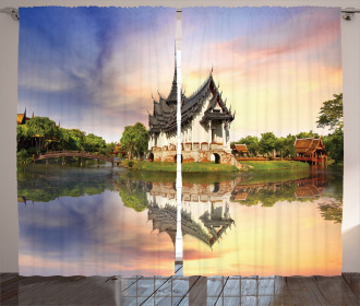Medieval Temple House Curtain