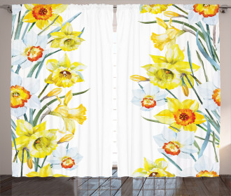 Meditation Flowers Curtain
