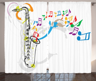 Festival Music Notes Curtain