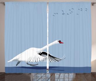 Swan Wildlife Animal Curtain
