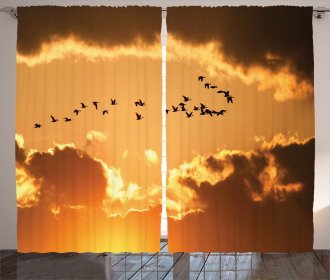 Flying At Sunset Freedom Curtain