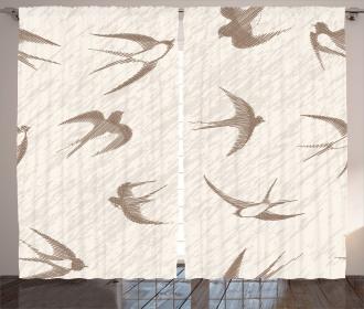 Flying Birds Artistic Curtain