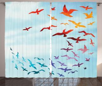 Flying Freedom Sky Art Curtain