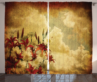 Retro Flower Chamomile Curtain