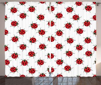 Cute Ladybugs Patterns Curtain