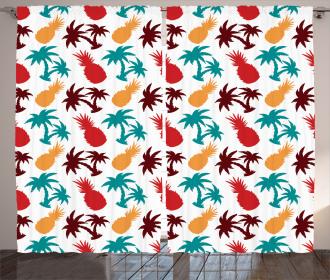 Palm Trees Island Curtain