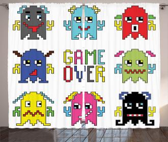 Pixel Robot Emotion Curtain