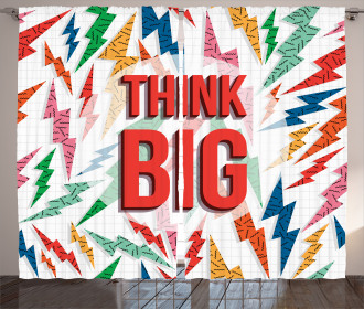 Think Big Quote Curtain