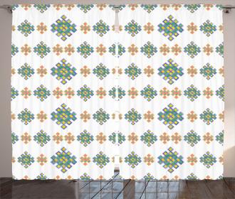 Pastel Celtic Motifs Curtain
