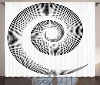 Surreal Monochrome Art Curtain