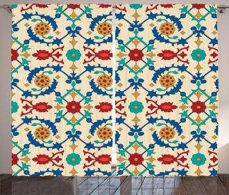 Ethnic Baroque Floral Curtain