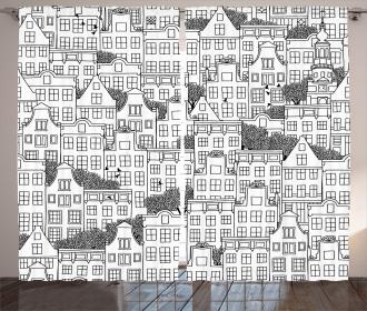 European Houses Urban Curtain