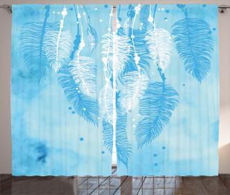 Ethnic Boho Feather Curtain