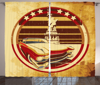 American Symbolism Curtain