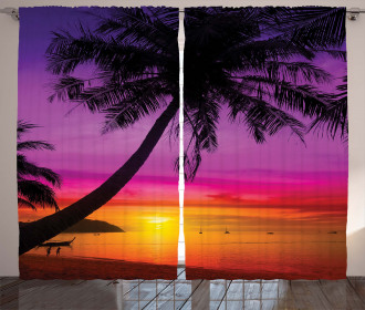 Palm Shadow at Sunset Curtain