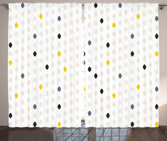 Polka Dots Geometric Curtain