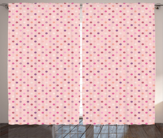 Romantic Polka Dots Curtain