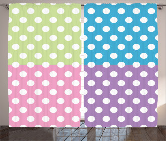 Polka Dots Patchwork Curtain