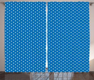 Polka Dots Navy Boys Curtain