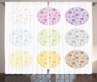 Polka Dots and Rounds Curtain