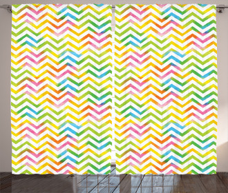 Colorful Geometrical Curtain