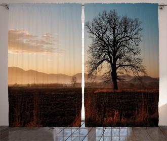 Countryside Autumn Dusk Curtain