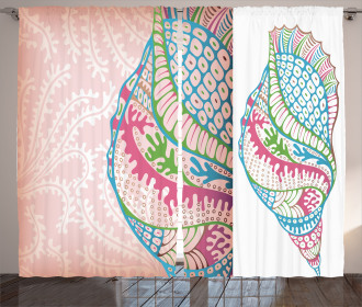 Seashells Ornate Vivid Curtain