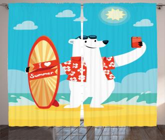 Polar Bear Selfie Surf Curtain