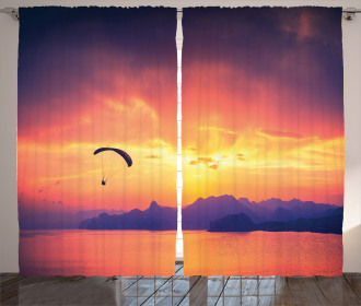 Paragliding at Sunset Curtain