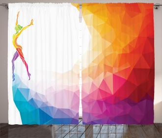 Gymnastics Girl Curtain