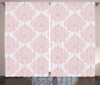 Pink Victorian Pattern Curtain