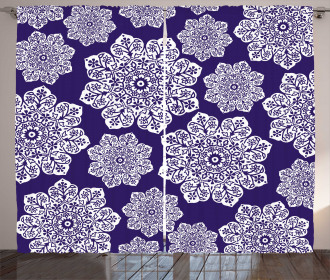 Flora Lace Snowflake Curtain
