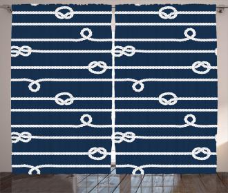 Sailor Knots Marine Curtain