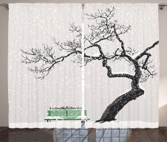 Retro Bench and Tree Curtain
