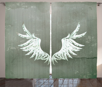 Coat of Arms Wings Curtain