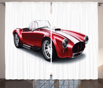 Old Fashioned Vintage Car Curtain