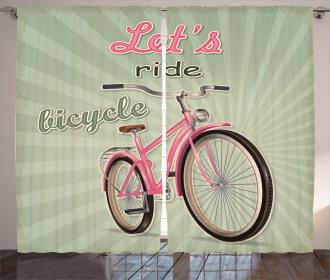 Retro Pop Art Bike Curtain